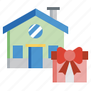 real, estate, gift, box, surprise, happy, birthday
