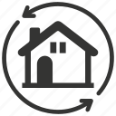 building, change, change house, home, house icon