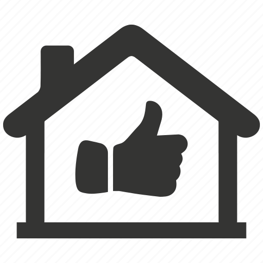 Estate, home, house, like, property, real, thumbs up icon - Download on Iconfinder