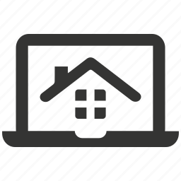 house renting, laptop, notebook, property, real estate, real estate website icon