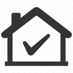 approved, check mark, checkmark, home, property, real estate icon