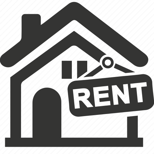 building, construction, house, property, real estate, rent home, rent sign icon