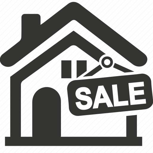 building, house sold, property, real estate, sold sign icon