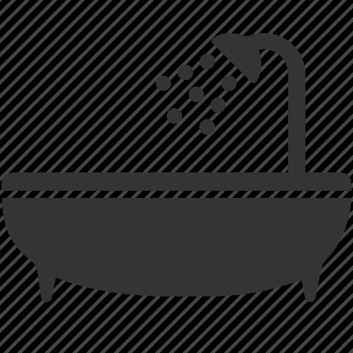 bathroom, bathtub, shower, tart, toilet, wash icon