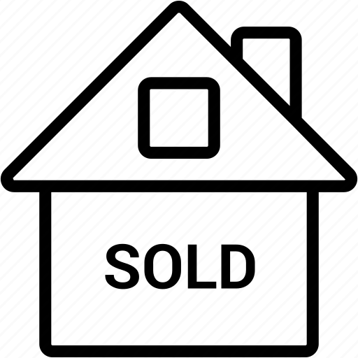 apartment, estate, home, house, property, real, sold icon