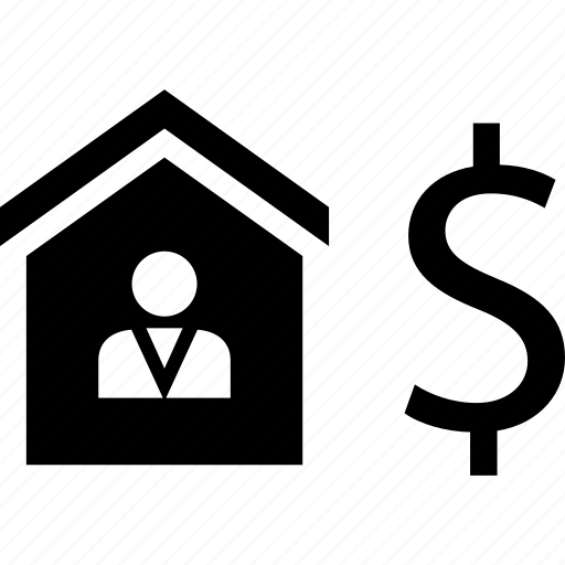 dollar, equity, estate, home, house, real, realtor icon