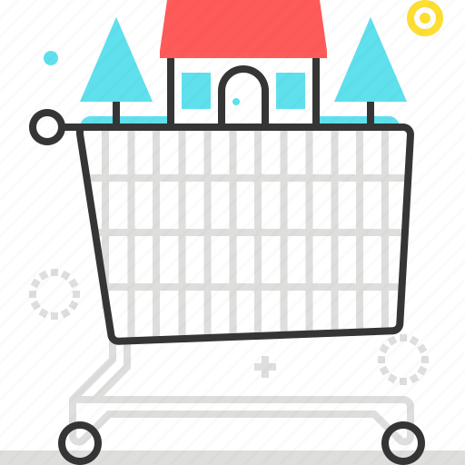 Basket, house, market, shopping cart icon - Download on Iconfinder