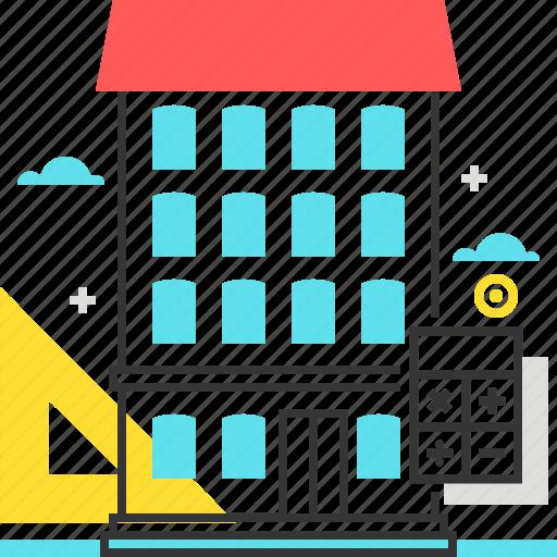 apartment, calculator, dimensions, renovate icon