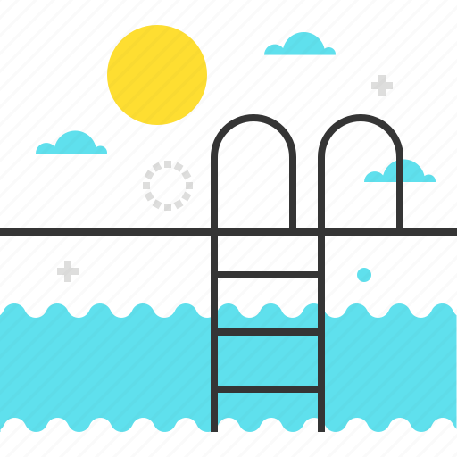 holiday, pool, sun, swim, water icon