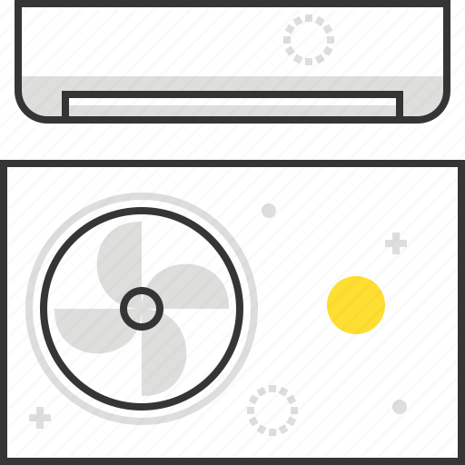air conditioner, cool, home, house icon