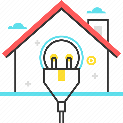Building, electric, energy, home, house, plug icon - Download on Iconfinder