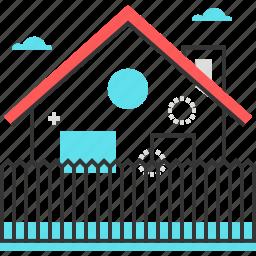 garden, home, house icon