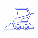 1, building, bulldozer, construction, equipment, estate, heavy, machine, real, site, tools icon