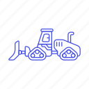 3, building, bulldozer, construction, equipment, estate, heavy, machine, real, site, tools icon
