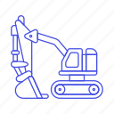 2, building, construction, equipment, estate, excavator, heavy, machine, real, site, tools icon