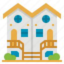 building, estate, house, property, townhouse icon