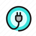 electricity, plug, cable, electric, utility, power, household