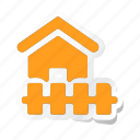 apartment, beach house, building, estate, house, property, real icon