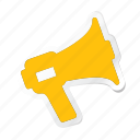 apartment, building, estate, house, megaphone, property, real icon