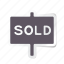 apartment, building, estate, house, property, real, sold icon