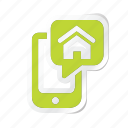 building, estate, house, online, property, real, smartphone icon