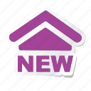 apartment, building, estate, house, new, property, real icon
