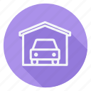 apartment, building, estate, garage, house, monument, real icon