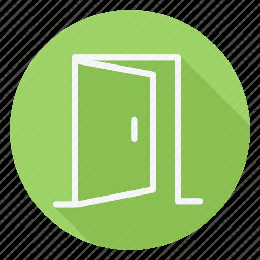 apartment, building, door, estate, house, monument, opendoor icon
