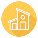 apartment, building, estate, home, house, monument, real icon