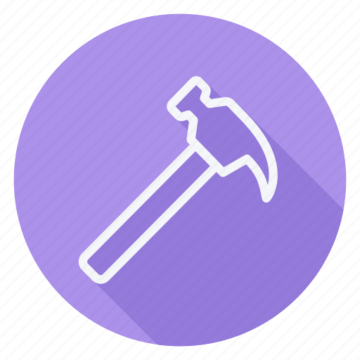 apartment, building, estate, hammer, house, monument, real icon