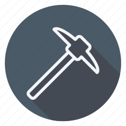 apartment, building, estate, hammer, house, monument, pick icon