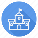 apartment, building, castle, estate, house, monument, real icon