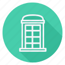 apartment, building, estate, monument, phone booth, real, telephone icon