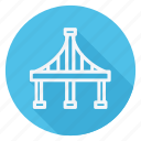 apartment, bridge, building, estate, house, monument, real icon
