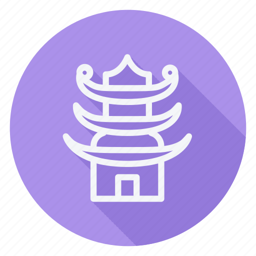 apartment, building, estate, house, monument, pagoda, real icon