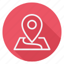 apartment, building, estate, house, loction, map, real icon