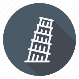 apartment, building, estate, house, leaning tower of pisa, monument, real icon