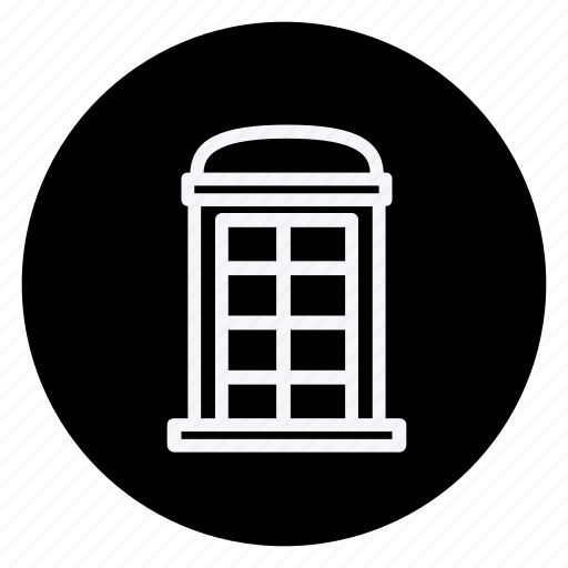 apartment, building, estate, house, monument, phonebooth, real icon
