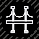 apartment, bridge, building, estate, house, monument, real icon