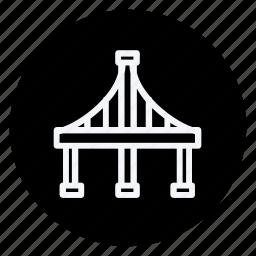 apartment, bridge, building, estate, golden gate bridge, house, real icon