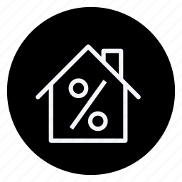 apartment, building, discount, estate, house, persentage, real icon