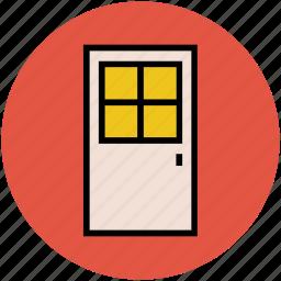 door, door close, door way, entrance, exit, out icon