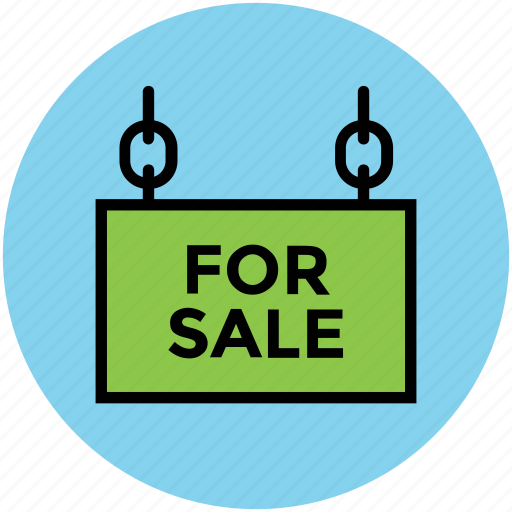 for sale, information, real estate, signboard icon