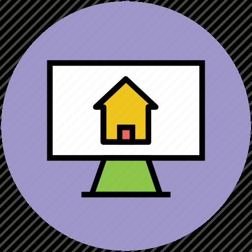 house display, internet, lcd screen, media, real estate, social media icon