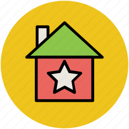building, favorite sign, home, house, star icon