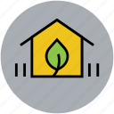 ecology, farm, farm house, home, nature, plant, rural house icon