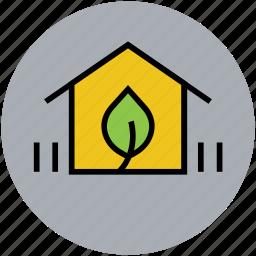 ecology, farm, farm house, home, nature, plant, rural house icon