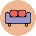 couch, divan, furniture, settee, sofa icon