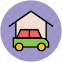 car, car garage, car parking, parking, vehicle zone icon