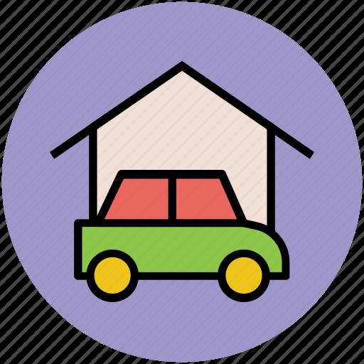 car, car garage, car parking, parking, vehicle zone icon